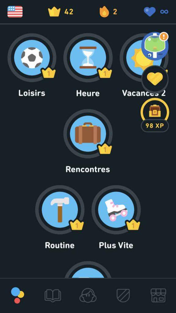 Tous les thèmes de Duolingo