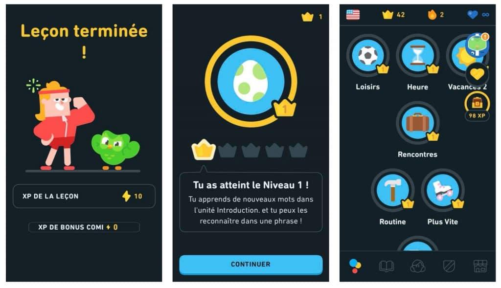 Apprendre en s'amusant sur Duolingo