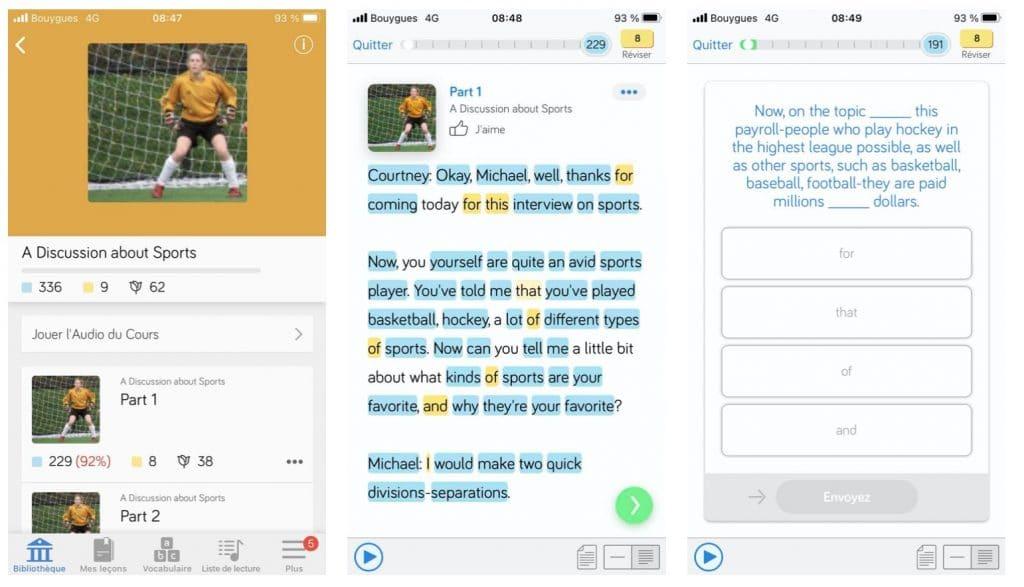 LingQ est une application pour apprendre l'anglais avec des textes et des podcasts