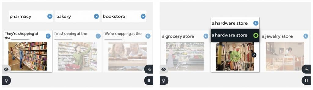Rosetta Stone est une application pour apprendre l'anglais grâce à des quizz