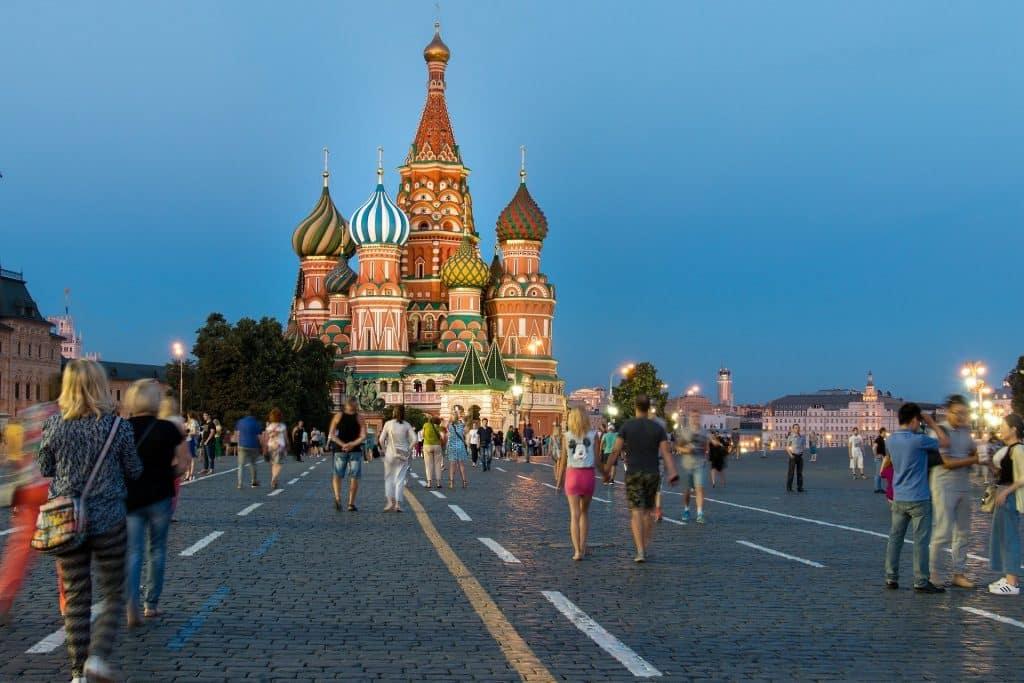 La place rouge en Russie
