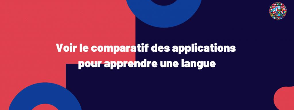 le comparatif des applications pour apprendre une langue