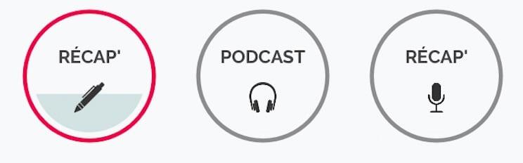 Récapitulatif, podcast et test écrit