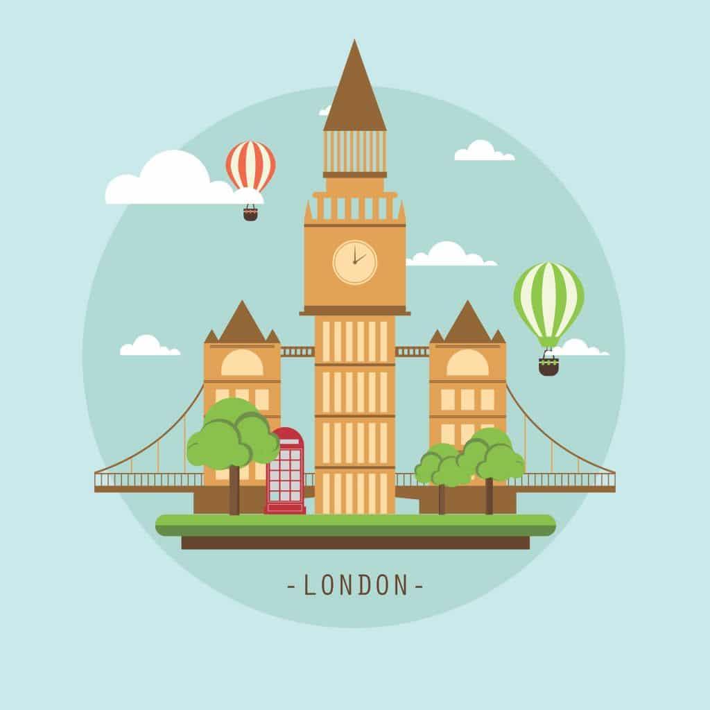 Londres et l'anglais britannique