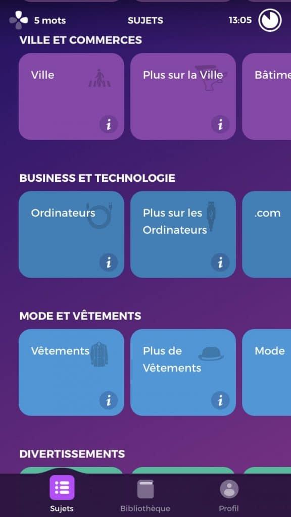 Exemple de thématiques langue 3